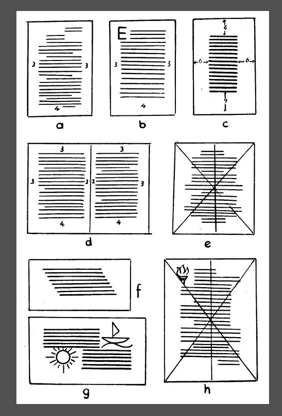 tipografide blok çeşitleri