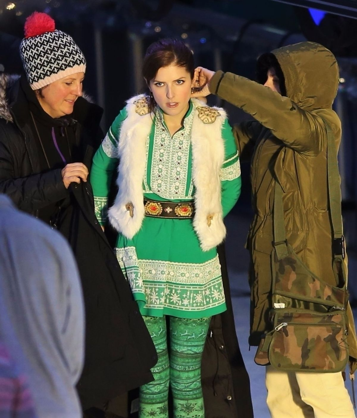 Anna Kendrick on the Set of Noelle in Vancouver