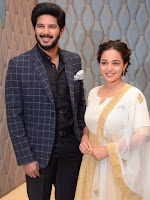 Nithya Menon & Dulquer Salmaan at 100 days of Love Movie Pre Release Press Meet Photos