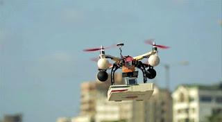livraison de pizza par drone