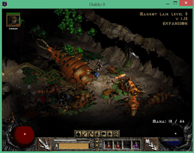 Maggot Lair Level 3  | Diablo 2 Screenshot