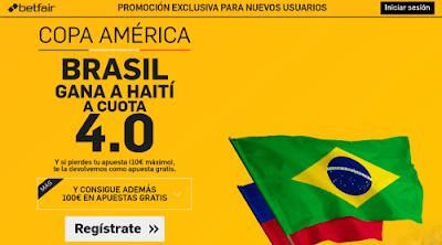 betfair Brasil gana Haiti supercuota 4 Copa America 9 junio