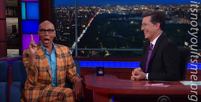 Rupaul Shashay's onto The Late Show