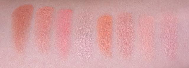 "Makeup Revolution Ultra Blush Palette ""Hot Spice"" свотчи"