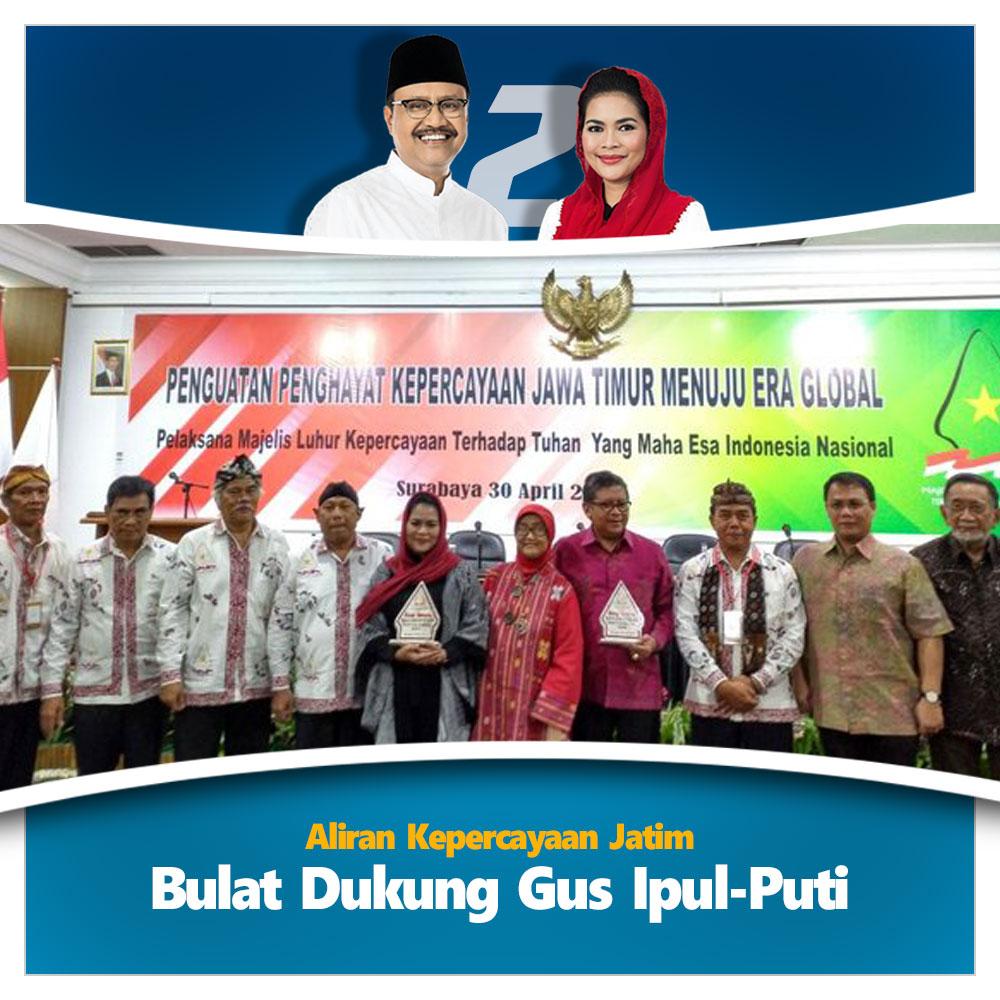 Bersama Sekjen PDIP, aliran kepercayaan Jatim bulat dukung Gus Ipul-Puti