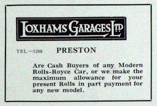 Loxhams Garages Ltd 1927 Rolls Royce advert
