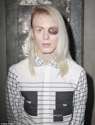 Models at the New York Fashion week take to the runway in makeup made to look like injuries