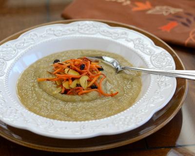 Hunger Moon Parsnip Soup ♥ AVeggieVenture.com
