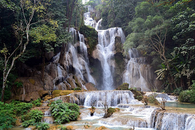 Blue water fall, luang prabang, Laos