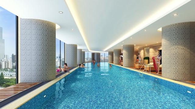 bể bơi trong nhà vc2 golden heart