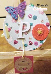 Frontal de tarjeta redonda para Patricia.