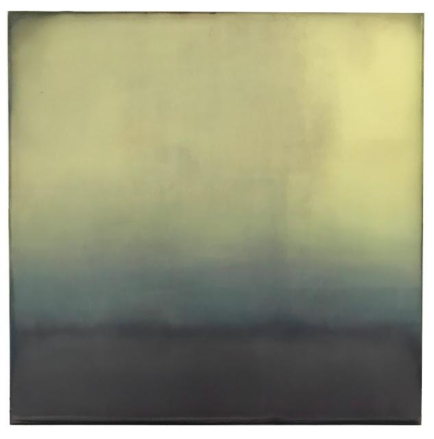 abby kasonik art yellow haze landscape painting