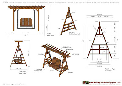 Furniture Plans Arbor Swing Plans Garden Swing Design Garden Teak