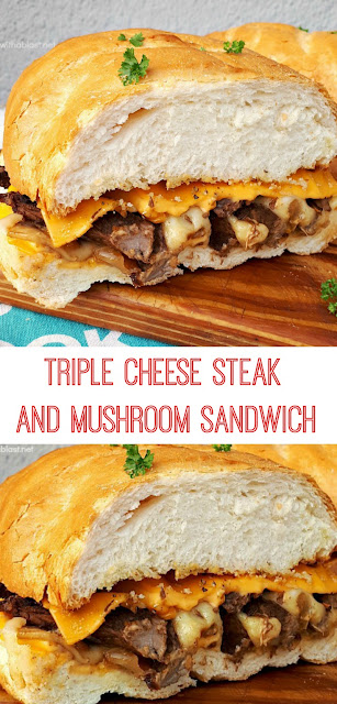 Mouthwatering delicious ! 3 x Cheese, Steak, Mushrooms, Onions and the most amazing Oil rub