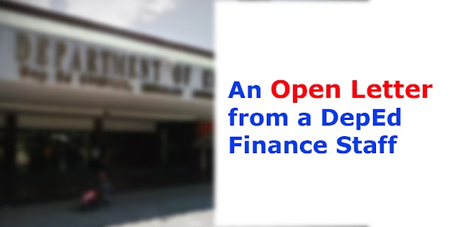 An Open Letter from a DepEd Finance Staff