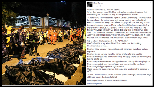 Netizen calls out PH media in Davao bombing reports