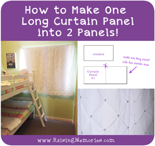 turn one curtain panel into two