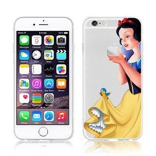 cover per iphone 6 e 6s disney biancaneve con mela in mano