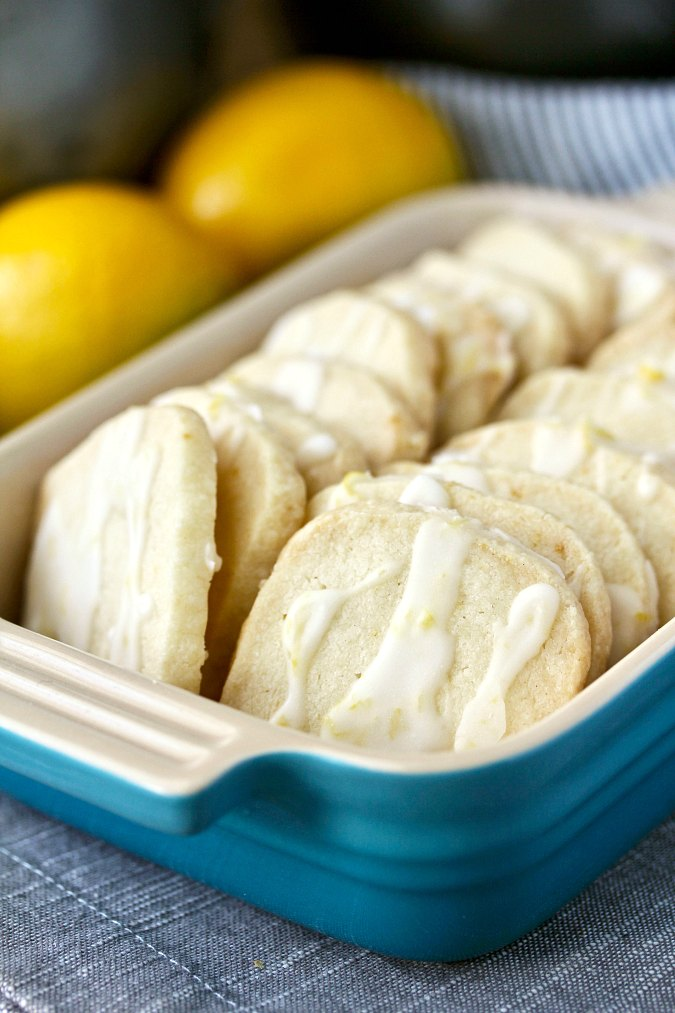 Easy Slice and Bake Lemon Shortbread
