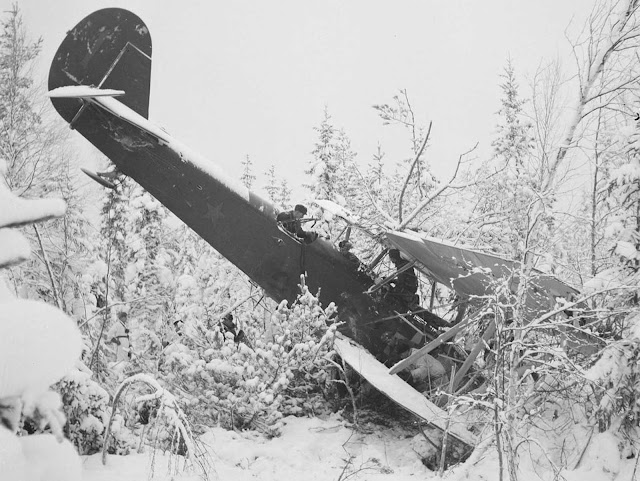A downed Russian plane.