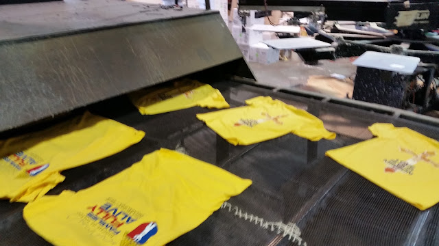 Curing Inks On T-Shirts With A Textile Conveyor Dryer