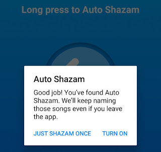 Enable Auto Shazam feature