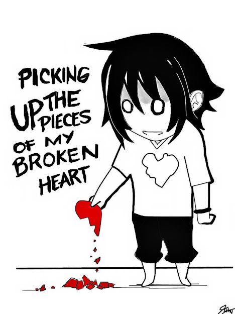 Breaking Heart Cartoon  Sad Broken Heart Cartoon