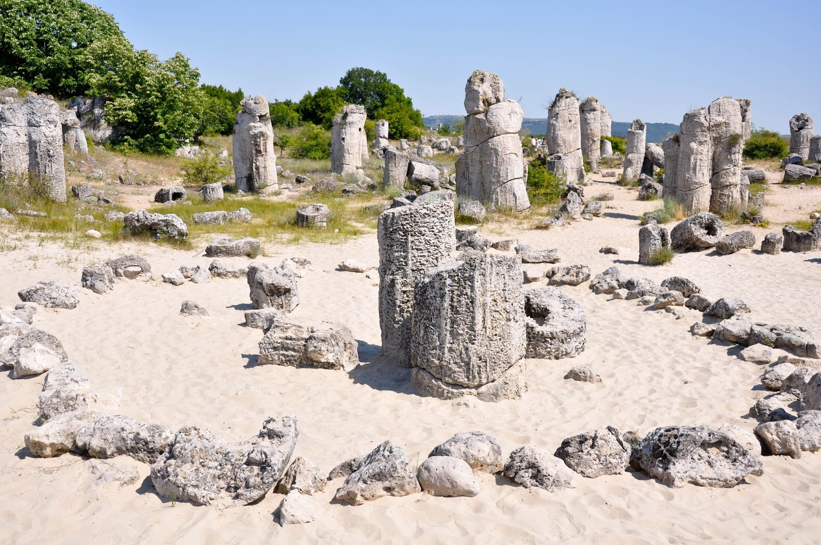 A view from the Magic Circle, The Stone Forest, Varna, Bulgaria