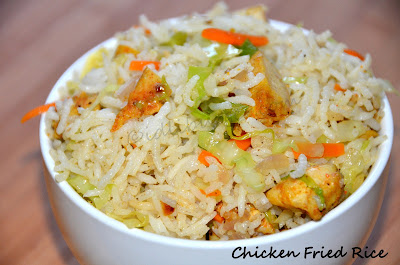 my culinary adventures: Chicken Fried Rice (Indo- Chinese ...