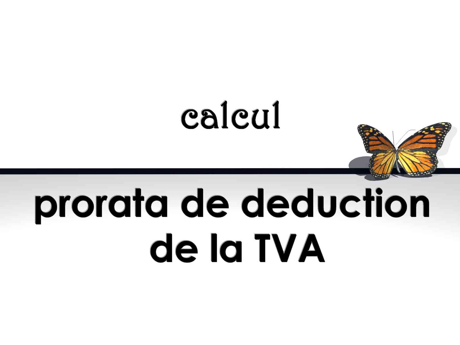 Prorata de déduction de TVA
