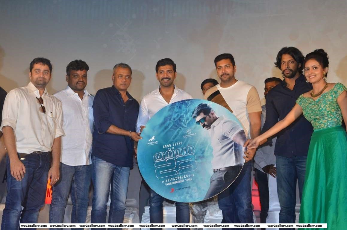 Jayam Ravi and Gautham Menon descended at the audio launch of Tamil film Kuttram