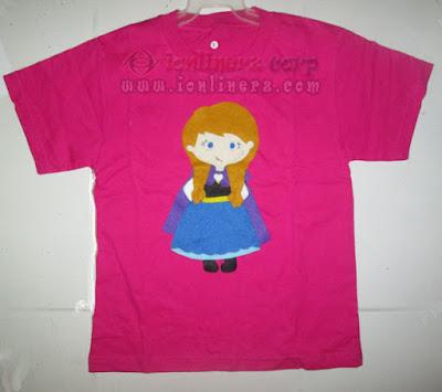 Kaos / Baju Flanel Anak Karakter Kartun Ana Frozen