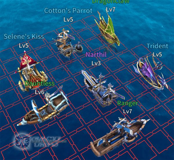 "Sailcraft Online Example ""Water Extend"" Fleet Build"