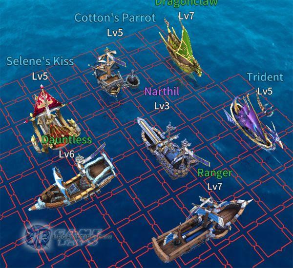 """Sailcraft Online Example """"Water Extend"""" Fleet Build"""