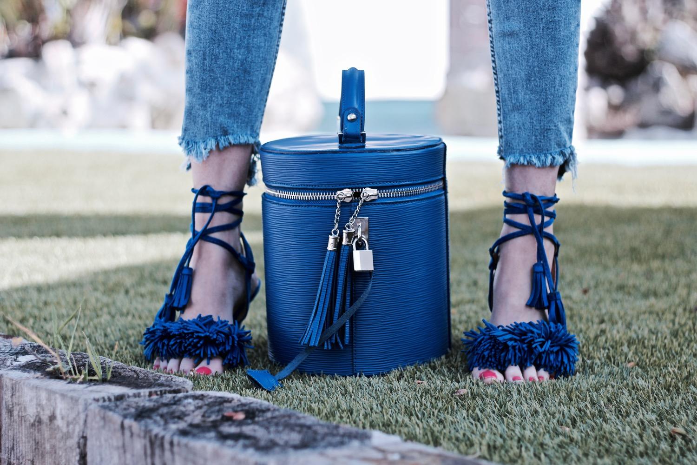 sandalias aquazzura azules