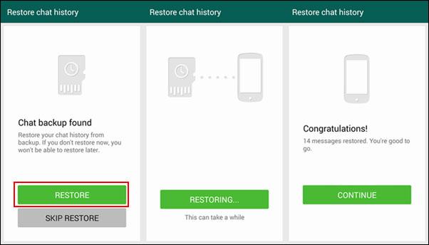 Sd card backup of whatsapp