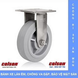 Bánh xe cao su càng bánh xe inox chịu tải trọng | banhxepu.net