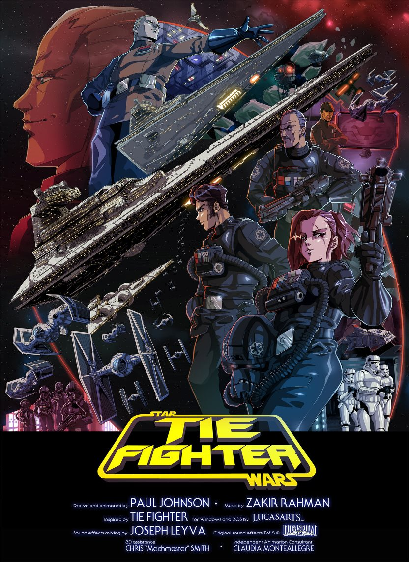 Poster TIE Fighter Anime