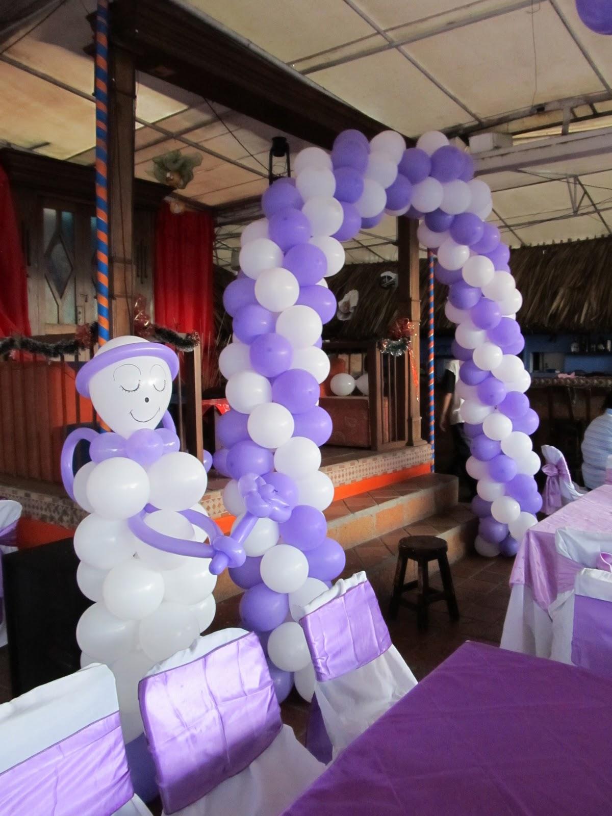 Decoracion con globos para primera comunion y for Decoracion de globos