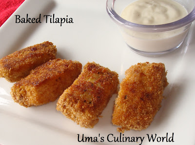 Baked Tilapia Nuggets
