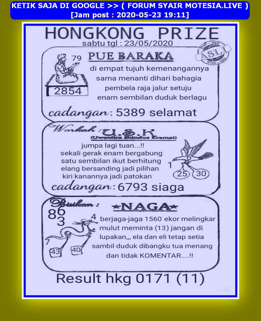 Kode syair Hongkong Sabtu 23 Mei 2020 28