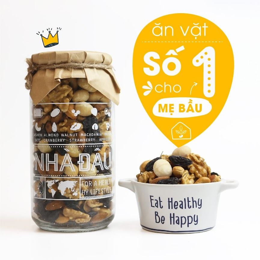 [A36] Mixnuts 5 loại hạt giúp Mẹ Bầu hết mệt mỏi