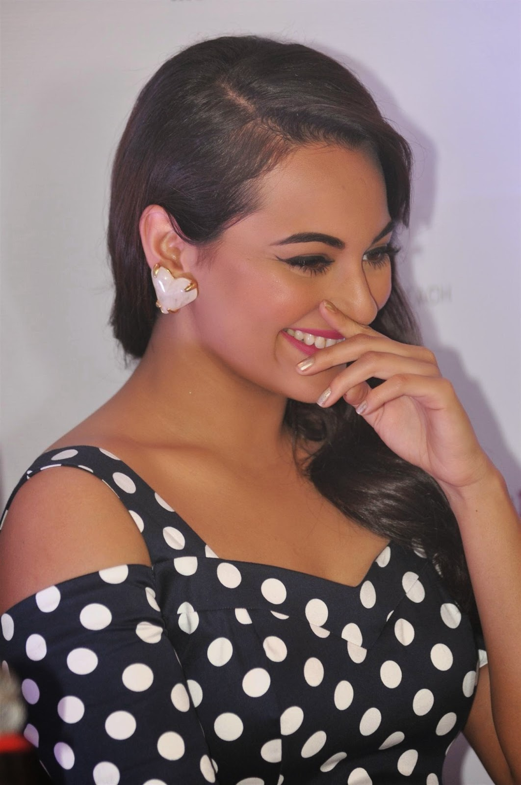 Sonakshi Sinha Smiling Photos In Black Dress