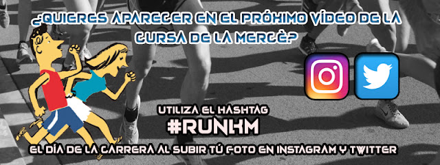 Utiliza el hashtag #runkm en tus fotos de la Cursa de la Mercè 2016