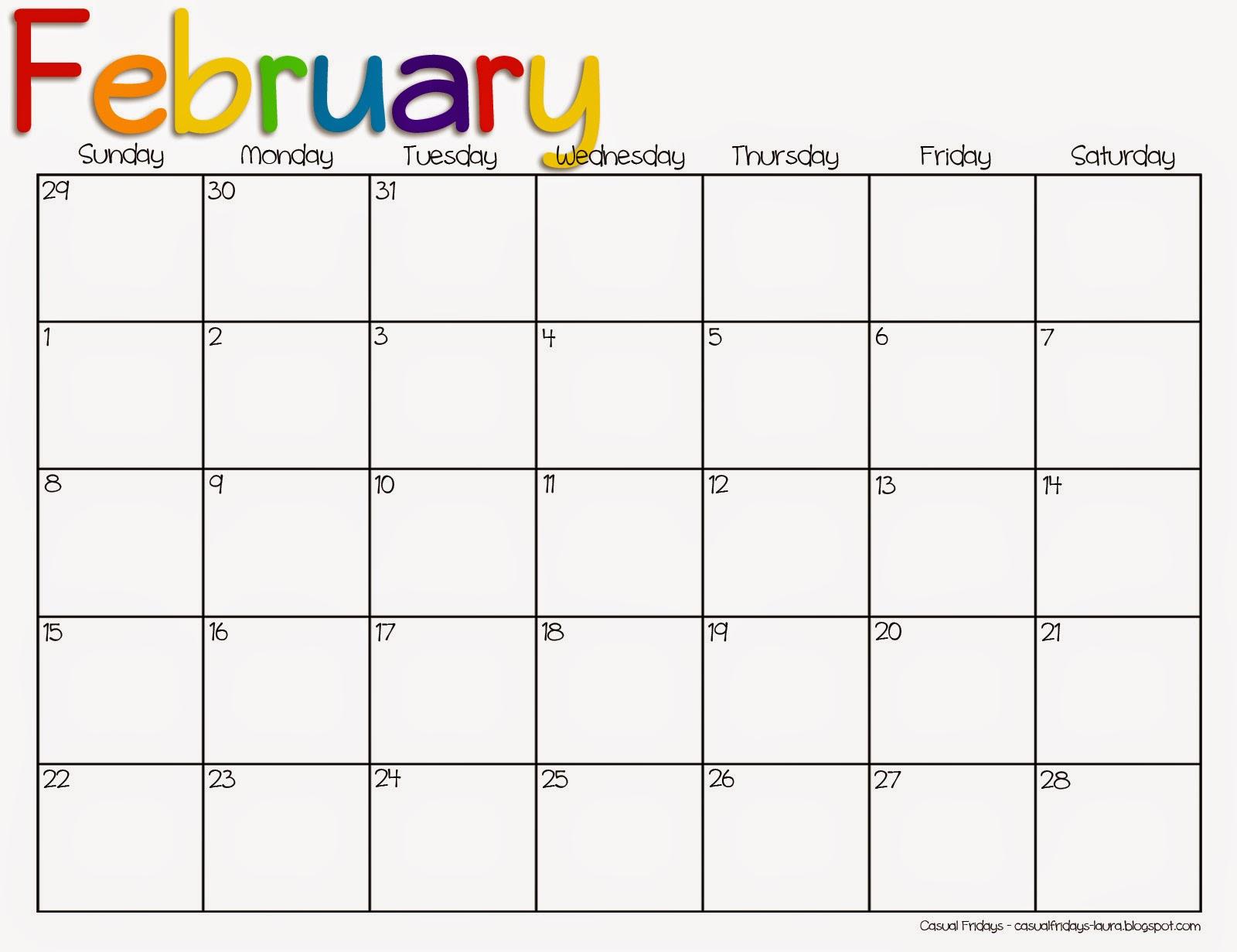 free printable calendars february 2015 selo l ink co
