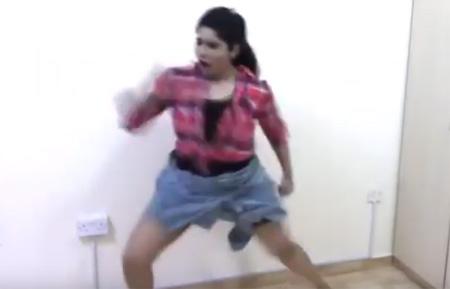 Tamil Girl kuthu dance – aaluma doluma