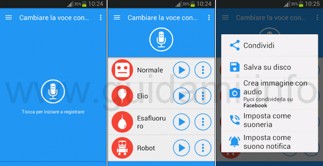 Microphone effects for change voice in WhatsApp voice recordings