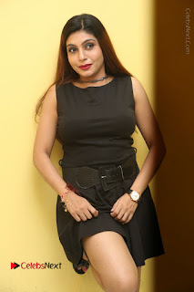 Pooja Roshan Stills in Black Short Dress at Plus 1 Movie Trailer Launch