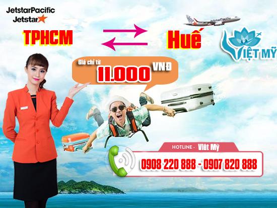 Jetstar Pacific khuyến mãi vé máy bay đi Huế 11.000 đồng