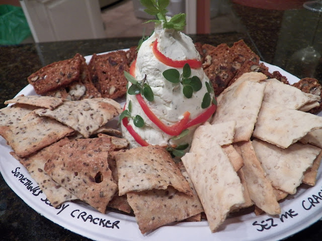 Herb Cheese Spread with Home Made Crackers